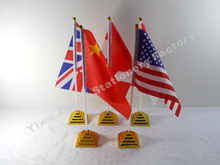 All Country USA UK Barzil Russia Canada Table Flag Desk Flag Table Banner Desk Banner Polyester High Quality Free Shipping