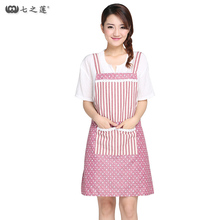 Japan Hot Sale Family Women Bib Apron Cooking Coffee Shop Tablier Cuisine Chef Apron Custom Waterproof Cute Apron Free Shipping
