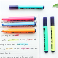 2017 New Colored Creative Oblique Highlighter Daily Office School Mark Writing Supplies Graffiti Business Highlighters Markers
