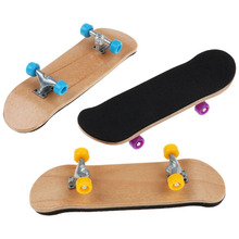 Professional Sports Toys Wood Finger Skateboard Alloy Stent Bearing Wheels Skid Pad Fingerboard Novelty Toy Kids Christmas Gift(China)