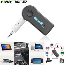 Onever Wireless Car Bluetooth Receiver Adapter 3.5MM AUX Audio Stereo Music Home Hands-free Car Bluetooth Audio Adapter