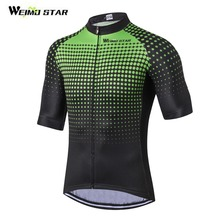 Weimostar Men Cycling Jersey Half Sleeve ProTeam Maillot Ciclismo Ropa mtb Bike Jersey Cycling Clothing Green Red Blue 3-Colors