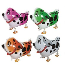 10pcs SPOTTY DOG Walking Pet Balloons Dalmatians Walking Animal Foil Balloon Party Decoration Toy Kids Gift Globos Balony