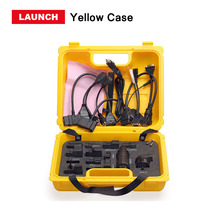 Launch X431 Diagun IV yellow case with full set cables Yellow case for x-431 Diagun IV Good quality DHL free shipping(China)