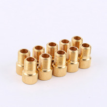 Buy 10pcs/lot Presta Schrader Valve Inflator Valve Adaptor Bicycle Bike Pump Tire Convertor Accessories Zinc Alloy Copper Plated for $2.25 in AliExpress store