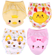 Hot Selling Baby Breathable Washable Cotton Non-fluorescent Training Pants Baby Cotton Underpants Newborn Baby Underwears S M L(China)