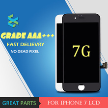 3PCS Grade AAA Quality LCD Display For Apple iPhone 7 Touch Screen Digitizer Assembly With 3D Touch in White Black Wholesale