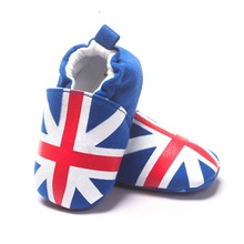 2017 England Flag Baby Boy Shoes Newborn First Walkers Bebe Shoes Cotton Shoe(China)