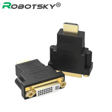1080P Gold Plated DVI 24+5 Female to HDMI Male Converter Plug HDMI to DVI Convert Adapter For HDTV LCD PS3 PC NoteBook Connector(China)