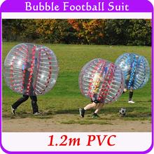 Hot Sale Inflatable Bubble Human Hamster Ball 1.2m PVC 0.8mm thickness Bumper Body Suit, Bubble Ball for Children teenager