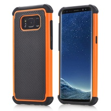 100PCS 3 in1 Armor Case for Galaxy Note8 S8 Galaxy S8 Plus Luxury Football texture cover for Galaxy S7 edge S7 S6 edge S6(China)