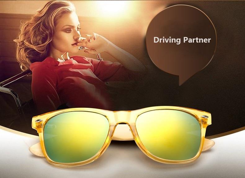 Ralferty Retro Wood Sunglasses Men Bamboo Sunglass Women Brand Design Sport Goggles Gold Mirror Sun Glasses Shades lunette oculo 2