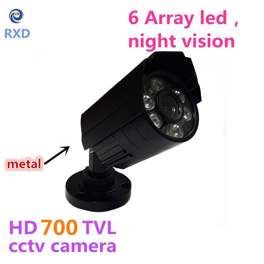1200TVL CCTV Camera  HD Outdoor Bullet Waterproof IR-CUT 6 Array Leds Mini Surveillance Security Camera Metal Case<br><br>Aliexpress