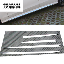 Car styling Auto Side Skirt Car stainless steel Sticker Side Body Door Decoration Trim for Mercedes Benz E Class W212 2014-2015