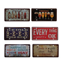 Vintage Metal Tin Sign Ice Cold Beer  Retro Plaque Poster Bar Pub Club Wall Tavern Garage Home Decor 15*30cm   1pcs 2016