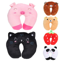 New invention Multi-Color Cartoon U Shaped Travel Pillow Neck Pillow Support Head Rest Cushion(China)