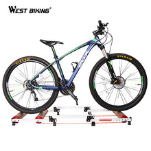 WEST BIKING Bicycle Trainers Cycling Fitness Exercise Rollers Training Station 3 Stage Folding MTB Road Mountain Bike Trainers