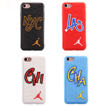 Case for iPhone 8 Plus NBA brand Michael Jordan fundas Soft Phone Hard Mirror Phone Case for iPhone 6s 6 Plus 7 7plus Cove