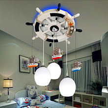 Children Room Blown Glass Chandelier for Sale Led Bulb E27 Kids Chandeliers 110/220V 3 Head Remote Control Chandeliers Suppliers(China)