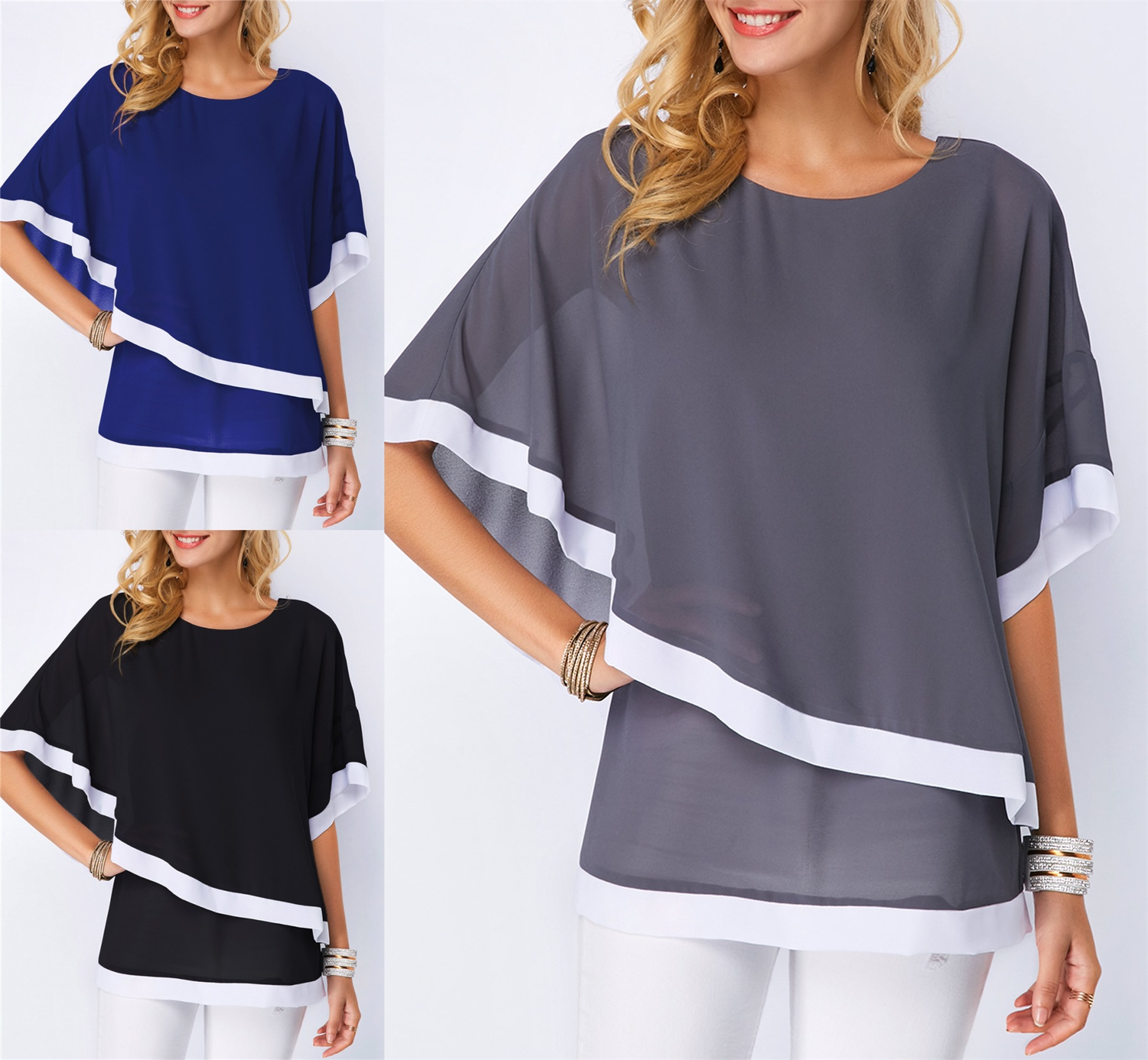 2019 Summer Fashion Floral Print Women Chiffon Shirts Lantern Sleeves Casual Loose Blouses Ruffled Holiday Fairy Blusas Tops Women's Clothing