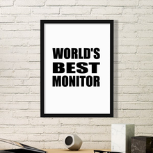 Best Moniter Teacher ever Graduation season school Picture Frame Art Prints of Paintings Home Wall Decal Gift