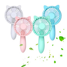 Handheld Mini USB Fan Solid Color Totoro Squirrel Rechargeable Desk Fans For Home Office Travel Outdoor Portable Gadget Q