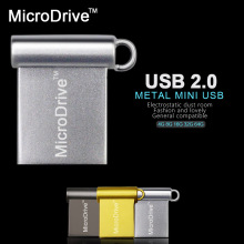 Super Mini Metal USB Flash Drive Pen Drive 4GB 8GB 16GB 32GB 64GB USB 2.0 Waterproof Pendrive USB Stick Flash Drive