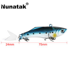 Nunatak SK030 VIB Vibration Lure 3 Units / lot 17.8g 75mm with Fishtail Tail Salty Sea Bass Fishing Sink Minnow Bait