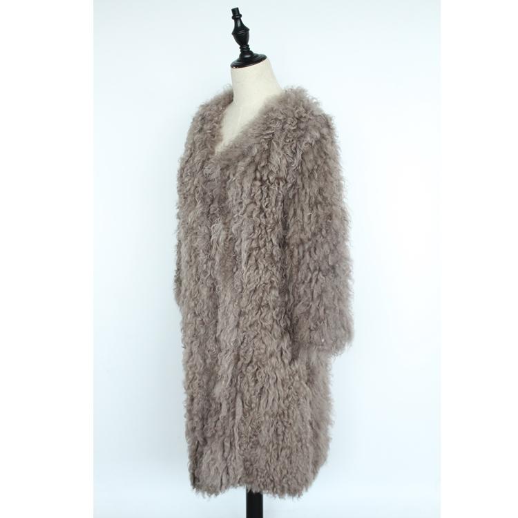women natural lamb sheep fur coat (2)