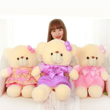 CXZYKING 55cm Large Size Teddy Bear Plush Toys Cloth Bow Stuffed Animals Ted Bear Dolls For Girl Birthday Gift Soft Toys(China)