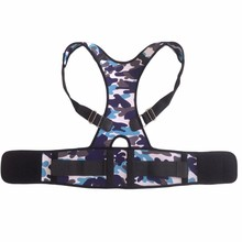 2016 New Style Camouflage Back Shoulder Posture Corrector Brace Back Colorful Lumbar Problems Good Proper Support Back Belt