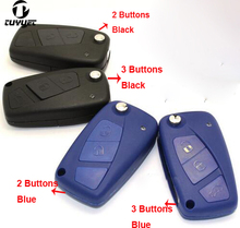 2 3 Buttons Folding Flip Remote Key Shell for Fiat Car Key Blanks Case