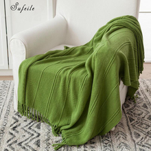 QCZX Casual cover blanket Nordic bed carpet weaving wool decorative blanket sofa summer air conditioning blanket D20