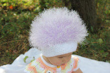 Hand knitting Baby and adult  Cabbage Patch Kids Hat / Beanie Wig / Children fuzzy  Dandelion / Halloween / white / troll wig