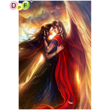 DPF DIY Angel wings 5D needlework crafts diamond painting cross stitch home decor diamond mosaic full square diamond embroidery(China)