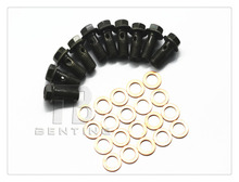 10 Pcs M10 x 1.0 Banjo Bolt W/ Copper Crush Washers Brembo For Brake Master Cylinders Calip(China)