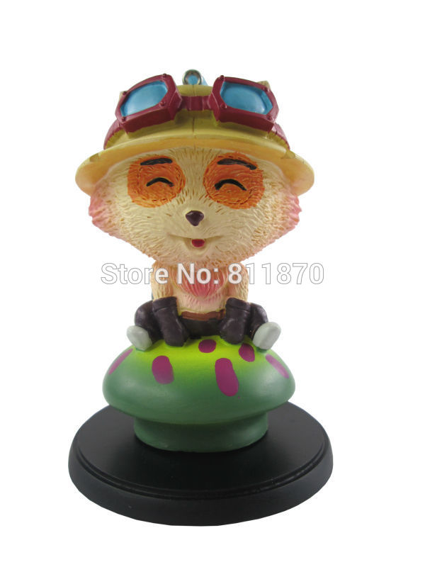 Cosplay 7cm/2.8 Small LOL The Swift Scout Teemo PU Garage Kits Action Figures Toys Model GK<br><br>Aliexpress