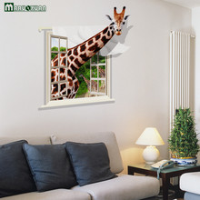 Extra Large Section Of Waterproof Removable Living Room Bedroom Wall Affixed 3d Imitation 3d Giraffe Stickers