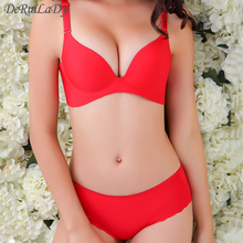 DeRuiLady Brand Underwear Vs Secret Women Bra Set Female Sexy Seamless Bra And Panty Set Plus Size Fashion Push Up Bra Lingerie