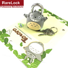 Rarelock  Mini Padlock Totoro Chinchilla Lock Same for Men Women Pair with Travelling Sport Luggage Bag Backpack Handbag DIY f
