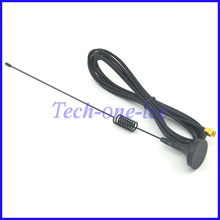 10 pieces SMA Plug Crimp RG174 GSM GPRS Antenna 7dbi - 8dbi 900/1800MHz Magnetic base Cable 3M free shipping(China)