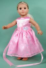 Pink doll clothes for the United States girls dolls, 18 inch American doll accessories b11