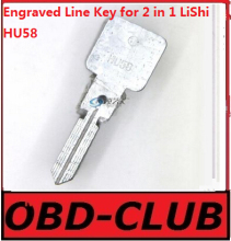 20pcs Original Engraved Line Key for 2 in 1 LiShi HU58 scale shearing teeth blank car key locksmith tools supplies