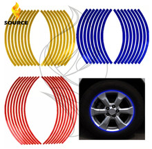 17/18 inch Wheel Stickers  Reflective Rim Stripe Tape Bike Motorcycle Car FOR  Kawasaki yamaha ducati honda ktm bmw Suzuki