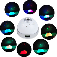 Alarm Clock LED Changing Star Sky Night Light Projector Backlight Table