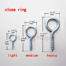 25 Picture Frame Plant Lamp Light Cabinet RV Tool Plant Curtain Net Wire Eye Bolt Eyebolt Screw in Spiral Hanger Close Ring Hook(China)