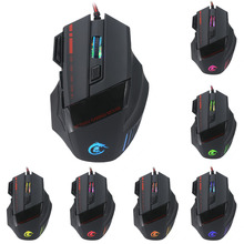 NEW Wired Gaming Mouse Mice Hot Ajustable  3200 DPI 7D LED Optical USB Wired PRO Game Mouse For PC Laptop Gaming souris sans fil