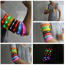 Running Jogging Cycling Safety Reflective LED Aarmband Flashing Light Wrist Band