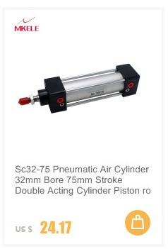 SC32x75 32mm de diámetro 75mm carrera atornillado Vástago del Pistón Cilindro de aire de doble Action