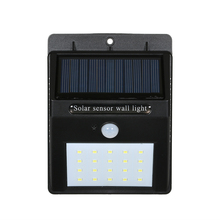 20LED Waterproof Outdoor Garden LED Solar Light PIR Motion Activated Security Solar Powered Night Light Yard Street Wall Lamp